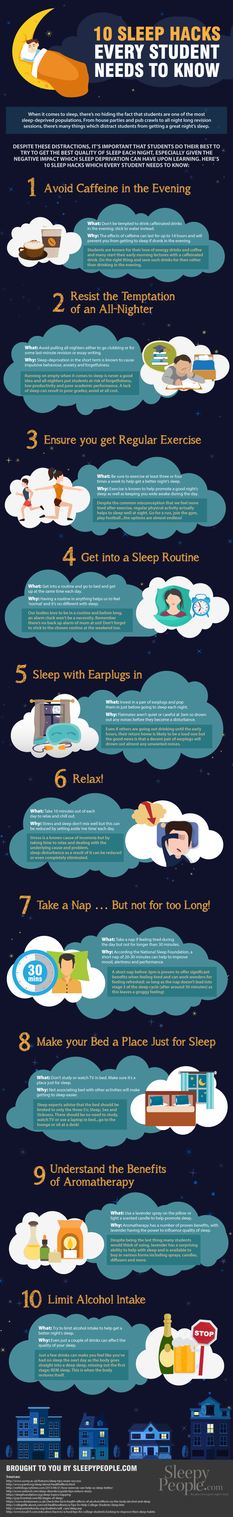 10 Student Sleep Hacks